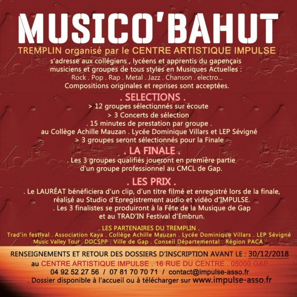Musico'Bahut Flyer verso