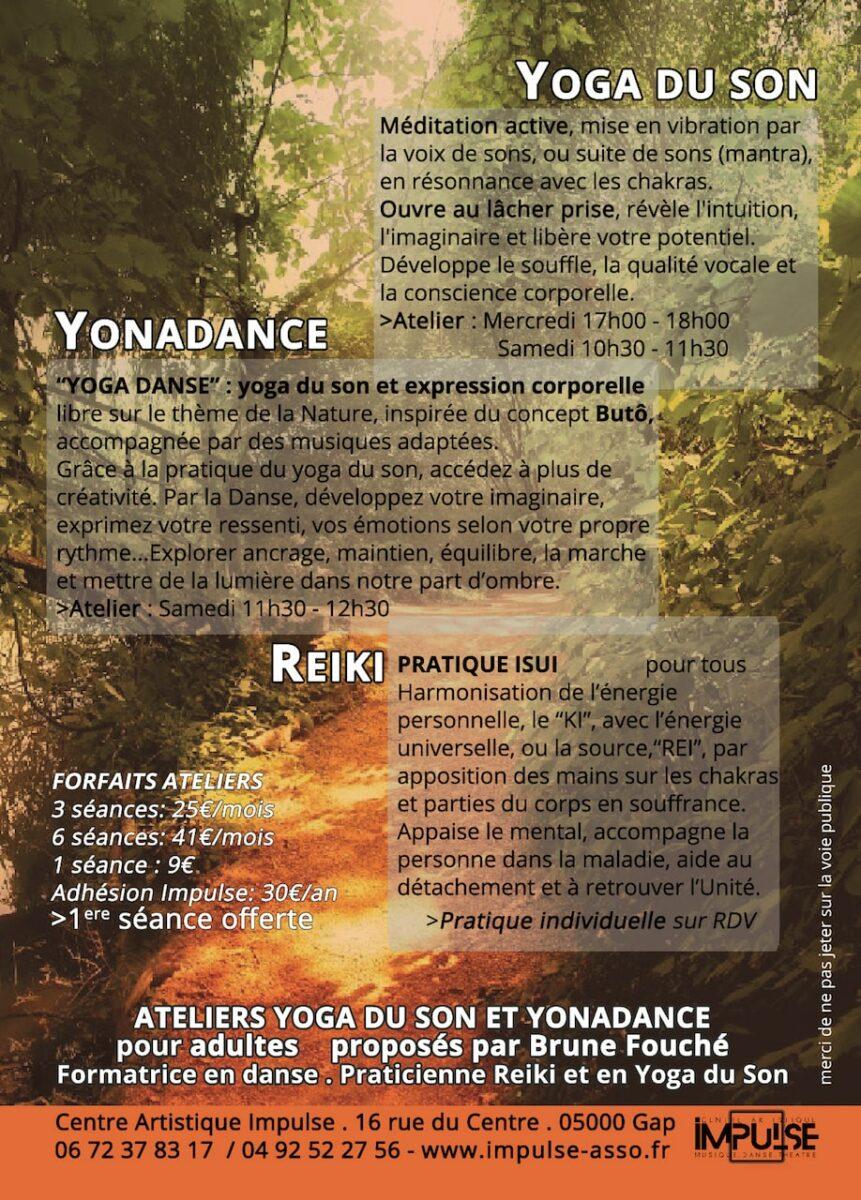 Flyer Yoga du son verso